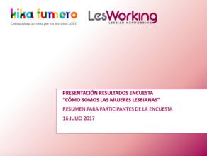 """Presentación Resultados Encuesta """"Cómo Somos Las Mujeres Lesbianas"""""""