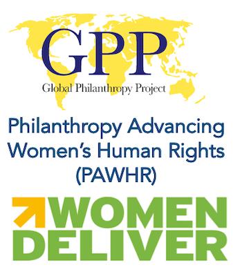 GPP, PAWHR, Women Deliver logos